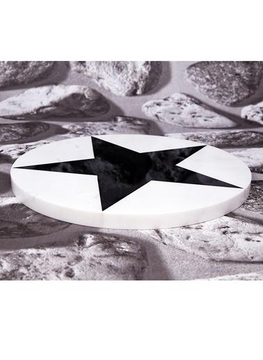 3Wdesign Yıldız Mermer Sunum Tablası Siyah